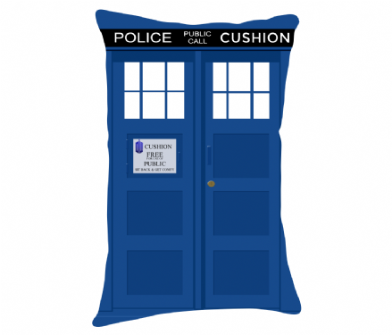 Lumbar Cushion With (Dr) Doctor Who Tardis Design